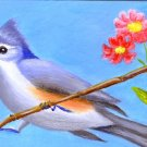 Tufted Titmouse / ACEIO Original Acrylic Paintin by R.J.