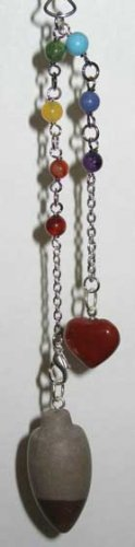 Shivilingam Pendulum with Chakra Stones Divination Wiccan