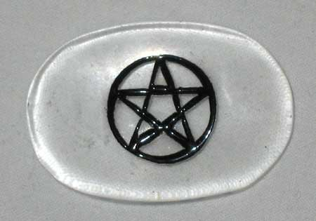 Pentagram Quartz Worry Stone Pagan Stress Relief Healing