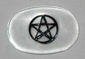 Pentagram Quartz Worry Stone Pagan Stress Relief Healing