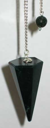 6 Sided Bloodstone Pendulum Scrying Divination Wiccan