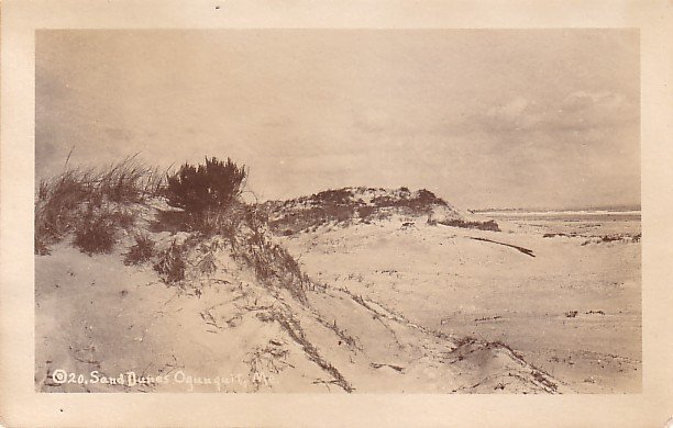Sand Dunes of Oqunquit Maine ME, Real Photo Post Card - 3568