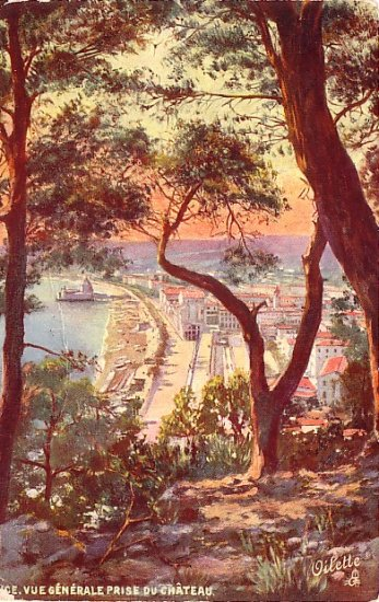 Vue Generale Prise Du Chateau in Nice France, Raphael Tuck Vintage Postcard - 3581