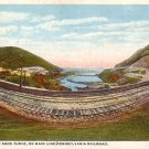 Horse Shoe Curve on Main Line of Pennsylvania Railroad Near Altoona PA Vintage Postcard - 3591