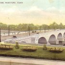 Hartford Bridge in Connecticut CT, Vintage Postcard - 3592