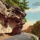 U.S. 71 Bluff Drive in the Ozarks of Missouri MO, Curt Teich Postcard - 3597