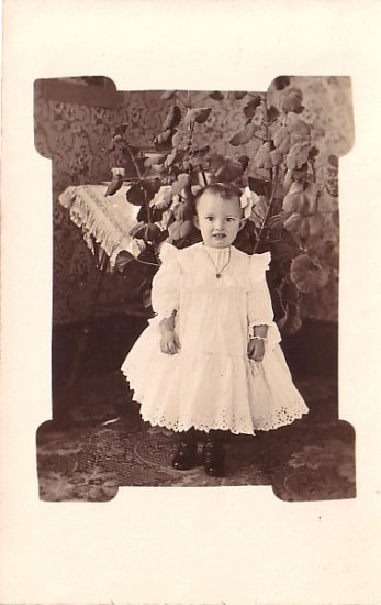 Little Lura Alberta Morse Real Photo Post Card, RPPC - 3614