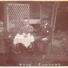 Good Company, Enjoying Tea Alfresco Real Photo Post Card - 3616