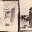 Mother in Her Wide Brimmed Hat 1911 Real Photo Post Card RPPC - 3617