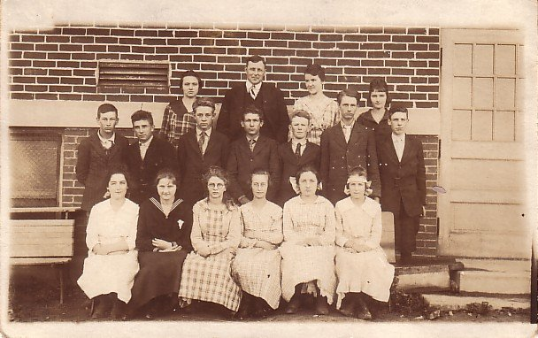Upper Grade Class Picture Real Photo Post Card RPPC - 3618