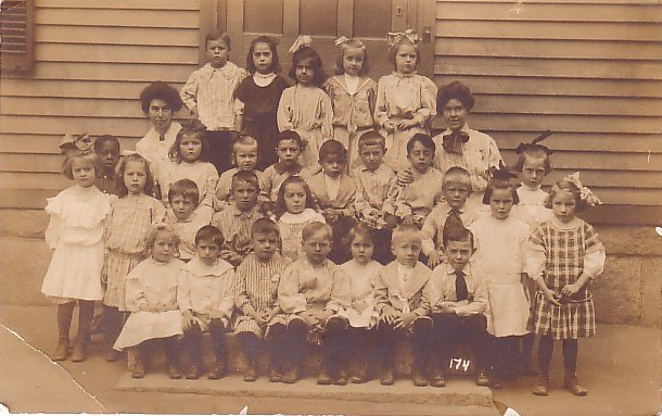 Segregated Class Picture, Real Photo Post Card RPPC - 3619