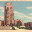 New York Central Terminal in Buffalo New York NY 1947 Linen Postcard - 3637