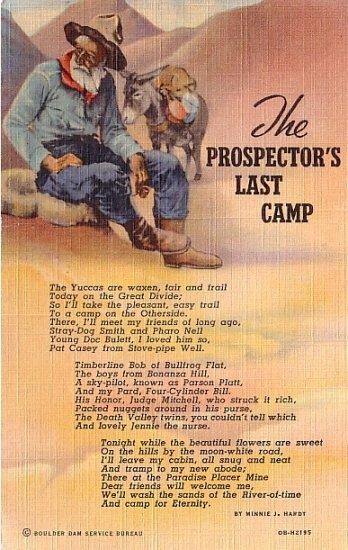 The Prospector's Last Camp, Curt Teich 1940 Linen Postcard - 3643