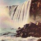 Horseshoe Falls from Below, Niagara Falls 1948 Linen Postcard - 3656