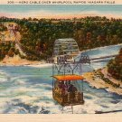 Aero Cable over Whirlpool Rapids, Niagara Falls New York NY 1941 Linen Postcard - 3659