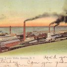 Solvay Process Works in Syracuse, New York NY 1911 Vintage Postcard - 3718