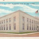 Post Office, Court and Customs House in Key West Florida FL Vintage Postcard - 3738
