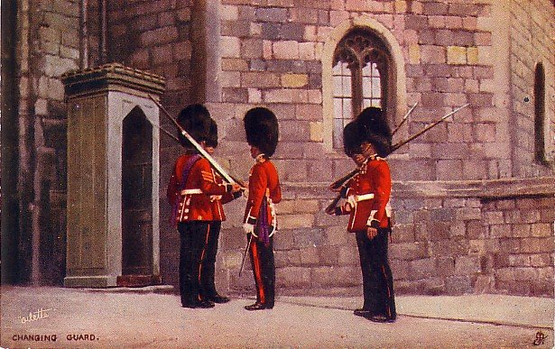 Changing Guard, Raphael Tuck & Sons Vintage Postcard - 3742