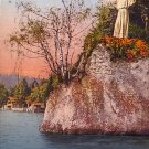Statue of Christ at Meggenhorn in Lucerne Switzerland Vintage Postcard - 3757