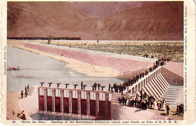 Opening of the Government Irrigation Canal near Twin Falls Idaho ID 1907 Postcard - 3774