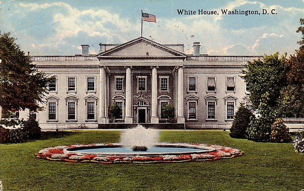White House in Washington DC 1916 Vintage Postcard - 3777