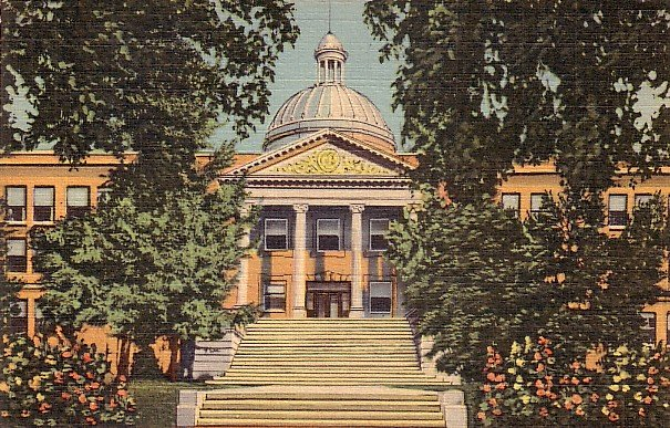 State Capitol in Santa Fe New Mexico NM 1935 Curt Teich Linen Postcard - 3799