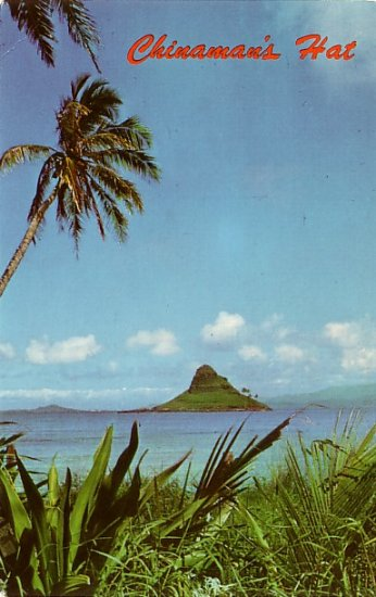 Chinaman's Hat off Oahu Hawaii HI 1960 Curt Teich Chrome Postcard - 3858