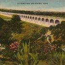 Olmos Dam in San Antonio Texas TX Linen Postcard - 3860