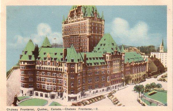 Chateau Frontenac in Quebec Canada Vintage Postcard - 3903