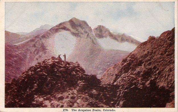 The Arapahoe Peaks in Colorado CO Vintage Postcard - 3923