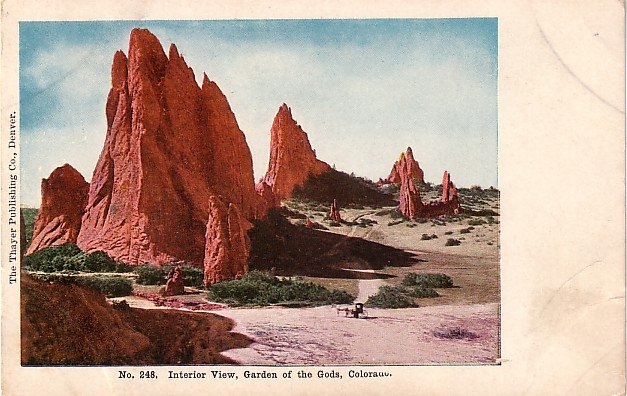 Interior View, Garden of the Gods, Colorado CO Vintage Postcard - 3924