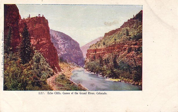 Echo Cliffs, Canon of the Grand River in Colorado CO Vintage Postcard - 3925