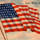 United States Flag with 48 Stars 1941 Linen Postcard - 0002