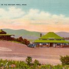 Western Summit on the Mohawk Trail, Massachusetts MA Linen Postcard - 0037