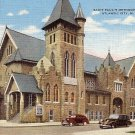 Saint Paul's Methodist Church in Atlantic City, New Jersey NJ Linen Postcard - 0039