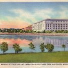Bureau of Printing and Engraving on Potomac Park and Basin Washington DC Postcard - 0045