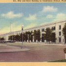 War and Navy Building on Constitution Avenue in Washington DC Linen Postcard - 0046