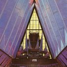 Interior View of Protestant Chapel U.S. Air Force Academy in Colorado Springs CO Postcard - 0055