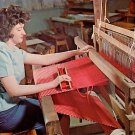 Student Weaving at College of the School of the Ozarks in Branson Missouri MO Chrome Postcard - 0056