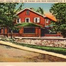 Kanuga Lake Inn, Hendersonville North Carolina NC Linen Postcard - 0066