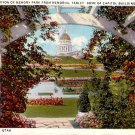Memory Park from Memorial Tablet in Salt Lake City Utah UT Curt Teich Postcard - 0085
