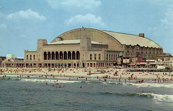 Convention Hall in Atlantic City New Jersey NJ Chrome Postcard - 0094