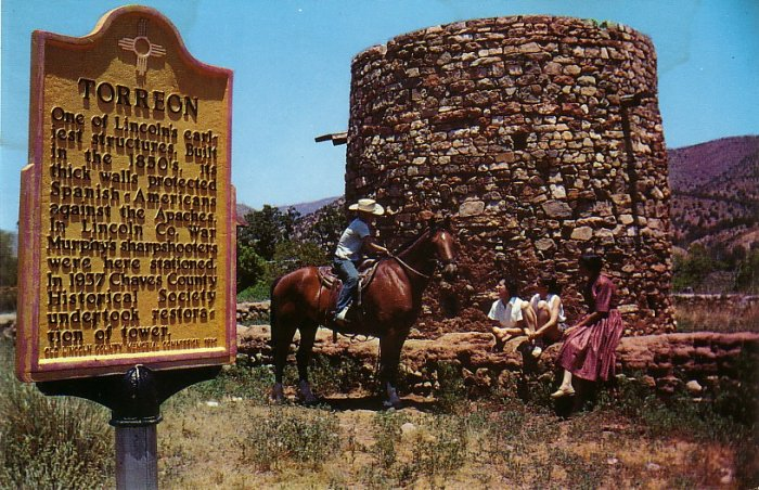 Torreon Tower  in Lincoln New Mexico NM Chrome Postcard - 0101