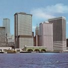 Lower Manhattan in New York City NY, Curt Teich Chrome Postcard - 0103