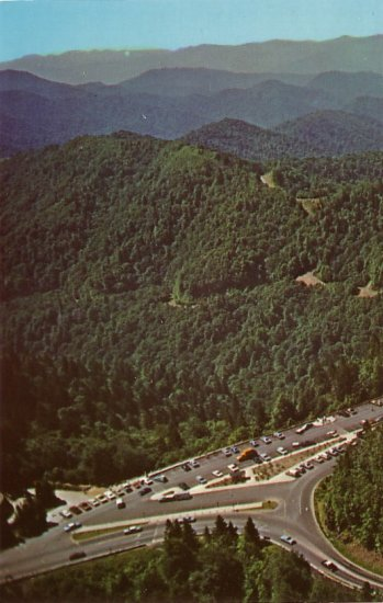 Mountains Newfound Gap Parking Area, Smoky National Park 1969 Chrome Postcard - 0126