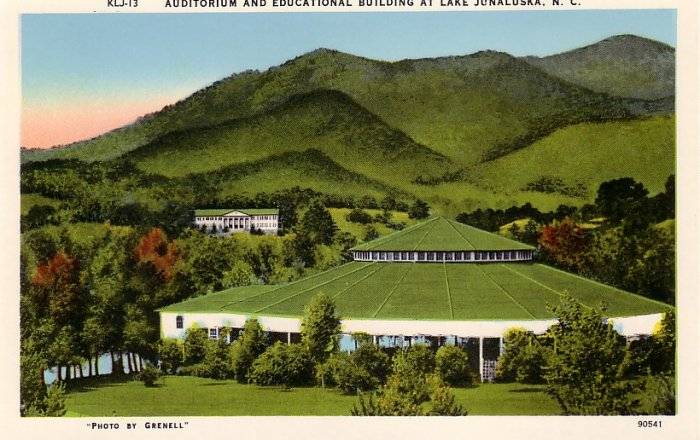 Lake Junaluska Auditorium and Educational Building in North Carolina NC Chrome Postcard - 0129