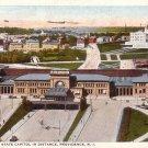Union Station in Provicence Rhode Island RI 1925 Vintage Postcard - 0136