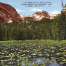 Chickadee Lake Wild Basin in Rocky Mountain National Park Colorado CO Linen Postcard - 0140