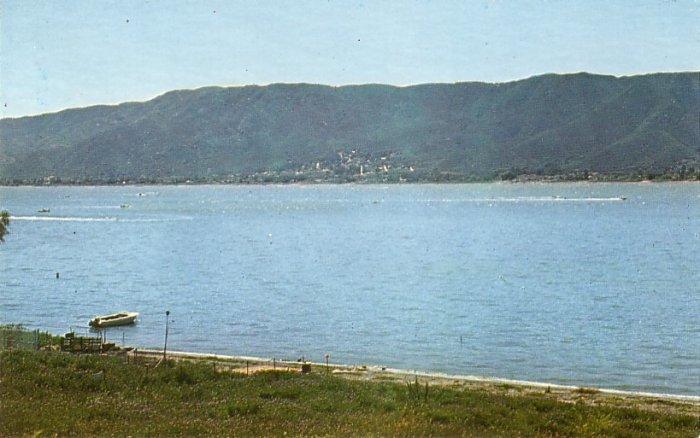 Lake Elsinore in Southern California CA Chrome Postcard - 0142
