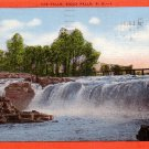 The Falls in Sioux Falls, South Dakota SD 1954 Linen Postcard - 0148